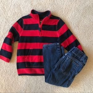 Old Navy fleece and jeans 3T